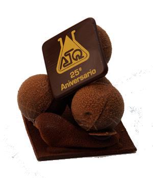 Pastel de chocolate personalizado